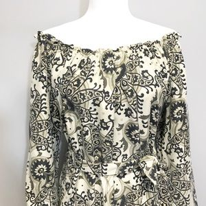 Michael Kors | 💯Silk Printed Off Shoulder Dress